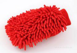 Sasanka - čistící rukavice červená