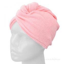 Turban na umyté vlasy - růžový