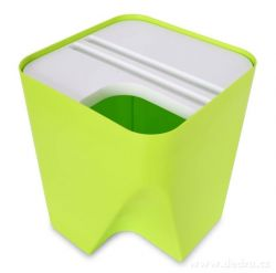 Designový koš TOTEMUS stohovatelný, zelený 13 L