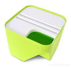 Designový koš TOTEMUS stohovatelný, zelený 8 L