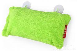 Podhlavník - polštář do vany zelený 37 x 20 x 15 cm