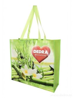 Citybag DEDRA textilní taška s lesklou laminací bamboo