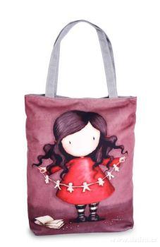 Elegantní kabelka/taška textilní creative girl (kreativní dívka)
