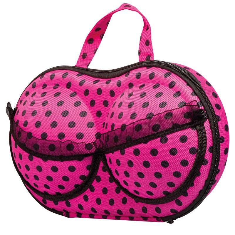 fdf3f00cd9d Elegantní pouzdro na spodní prádlo růžové tečkované