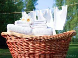 Čisté a bílé prádlo