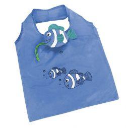 Skládací nákupní taška RYBKA modrá