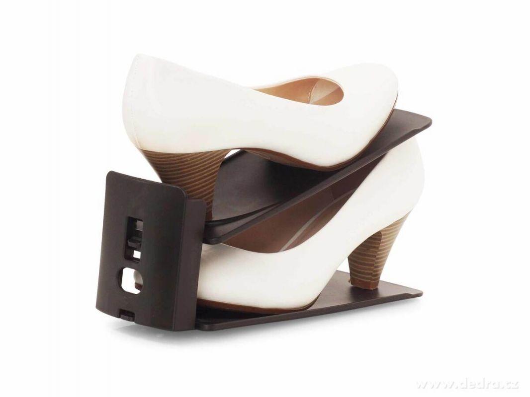 Dedra botoštos FLEXI 3 pozice stojan na skladování obuvi, černý
