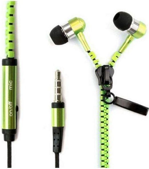Stereo sluchátka do uší FreeStyle ZIP - zelené