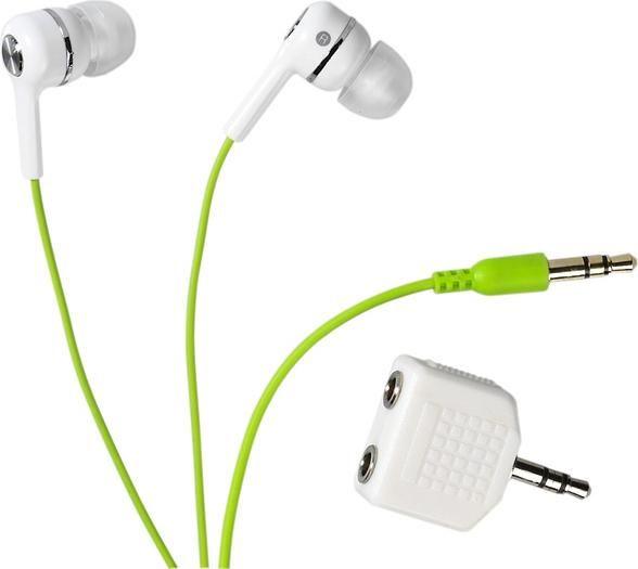 Stereo sluchátka do uší Vivanco FUSION - zelené
