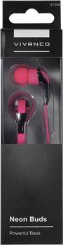 Stereo sluchátka do uší Vivanco Neon Buds - růžové