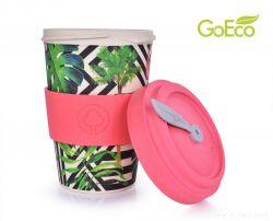XL KELIMERO® GoEco® 500 ml hrnek a šroubovací víko s bambusovou vlákninou Tropical flamingo (plameňák) Dedra
