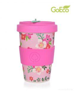 XL KELIMERO® GoEco® 500 ml hrnek a šroubovací víko s bambusovou vlákninou Be Happy
