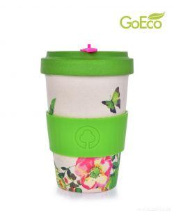 XL KELIMERO® GoEco® 500 ml hrnek a šroubovací víko s bambusovou vlákninou Nature colibri