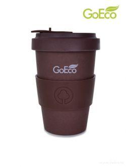 XL KELIMERO® GoEco® 500 ml hrnek a šroubovací víko, z vysokotlakého bambusu, čokoládový