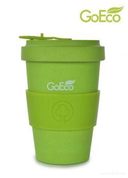 XL KELIMERO® GoEco® 500 ml hrnek a šroubovací víko, z vysokotlakého bambusu, jasně zelený
