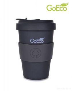 XL KELIMERO® GoEco® 500 ml hrnek a šroubovací víko, z vysokotlakého bambusu, antracitový