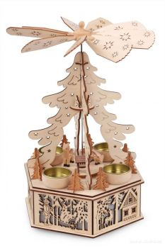 Adventní kolotoč na čajové svíčky
