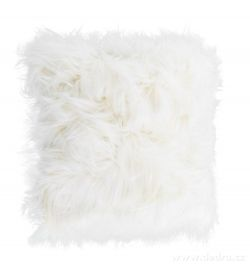 Dekorační potah na polštář s dlouhým vlasem bílý