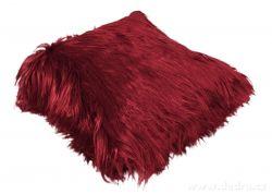 Dekorační potah na polštář s dlouhým vlasem