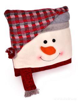Dekorativní polštář sněhulák, včetně výplně