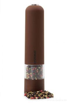 Dedra XXL elektrický mlýnek s LED osvětlením, hnědý