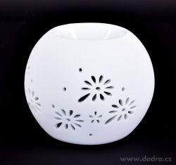 Dedra keramická aromalampa bílá