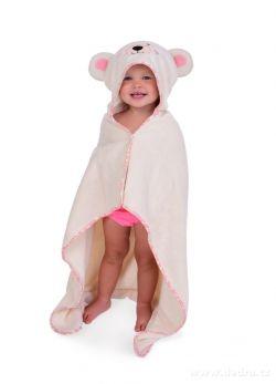 DEDRA Medvídek dětská osuška s kapucí