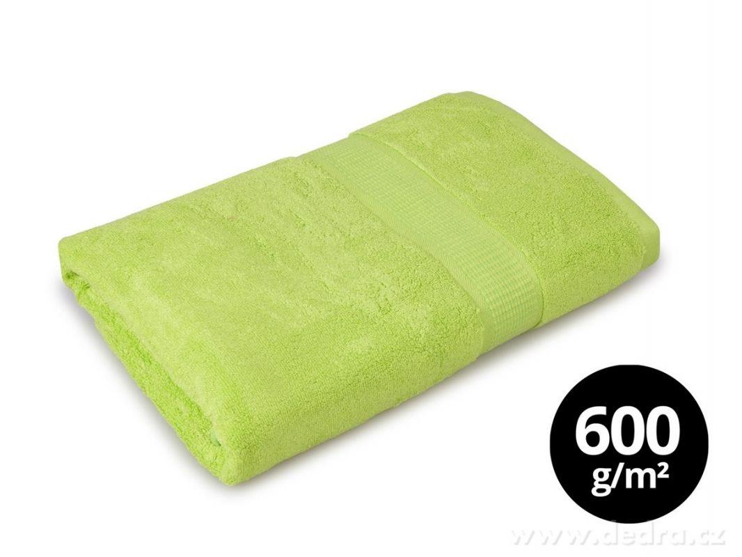 DEDRA BAMBOO osuška s elegantní bordurou jasně zelená