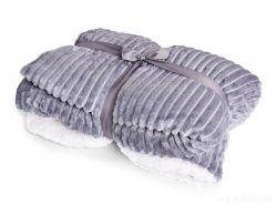 RELIEF LAGOON VELVET luxusní přikrývka 150x200cm, šedá