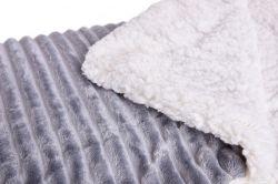 RELIEF LAGOON VELVET luxusní přikrývka dvouvrstvá 150x200cm, šedá