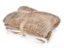 RELIEF LAGOON VELVET luxusní přikrývka 150x200cm, přírodní