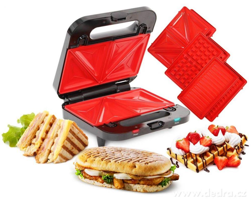 SYSTEMAT GRIFLOVAČ 4v1 sendvičovač, vaflovač, gril, panini