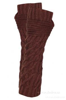 2 ks pletených návleků na ruce, otvor pro palec