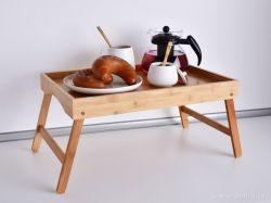 Dedra 2v1 skládací podnos/stolek z bambusu