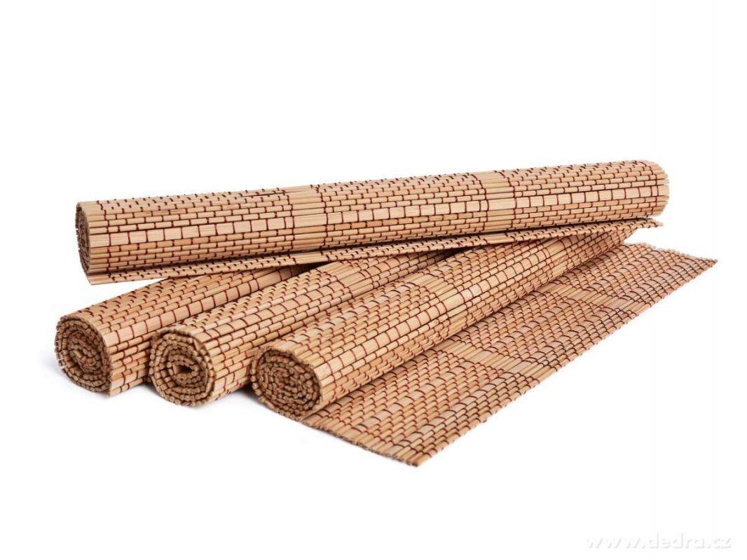Dedra Bambusové prostírání 4ks, prošité nití