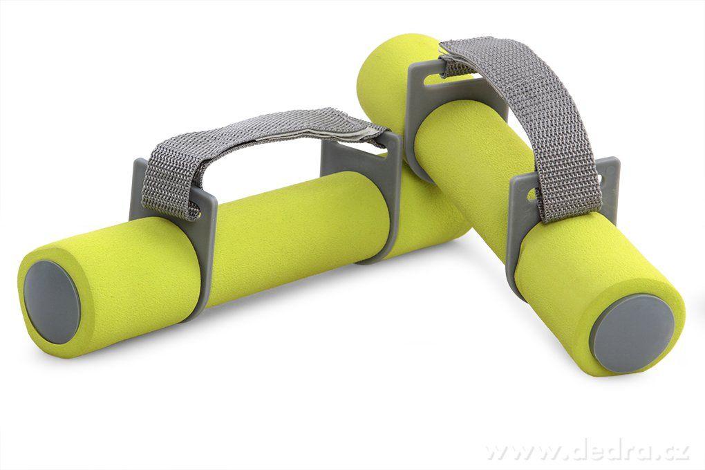 DEDRA 2 ks činka molitanová na aerobic, zeleno šedá
