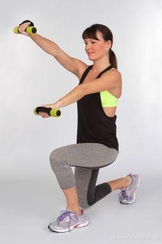 DEDRA 2 ks činka na aerobic i kondiční posilování, molitanová
