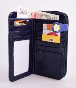 Dámská peněženka s aplikací kola z ekokůže