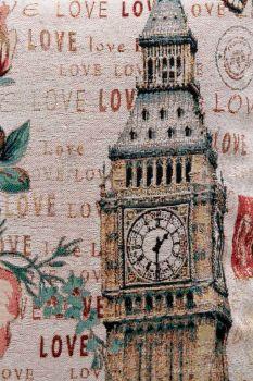 Gobelínový povlak na polštář 45x45 cm, s motivem Londýna