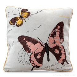 Gobelínový povlak na polštář 45x45 cm, oboustranný  s motivem motýla
