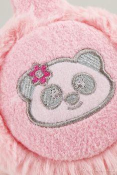 Hřejivé klapky na uši KIKISTAR růžové