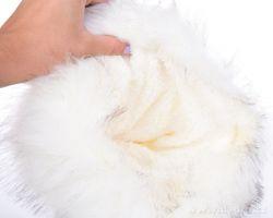 DEDRA Ručně pletená čepice s podšívkou, bílá