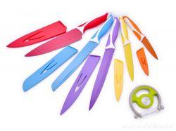 Dedra Sada barevných nožů + škrabka