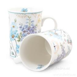 Dedra Sada dvou porcelánových hrnků  blue flowers