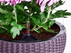 DEDRA Závěsný květináč,imitace ratanu, samozavlažovací, XL vel.
