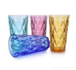Dedra 4 ks sada vysokých sklenic, 380 ml, barevné