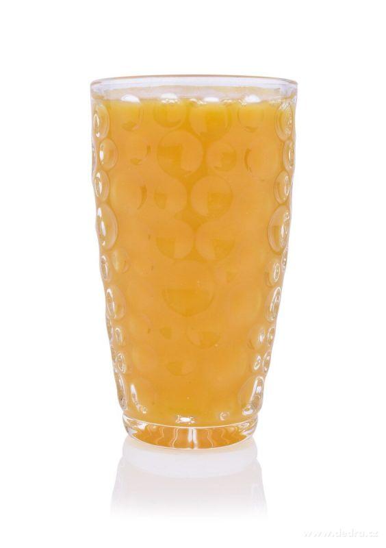 DEDRA 6 ks sada sklenice BUBBLE, objem 300 ml, výška 13,8 cm