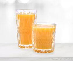 DEDRA 6 ks sada sklenice CRYSTAL, objem 250 ml
