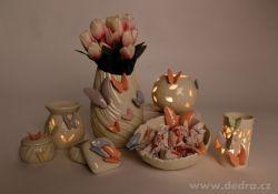 AROMALAMPA na čajové svíčky, BUTTERFLY COLLECTION