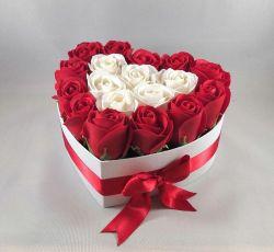 FLOWER BOX Srdce červené